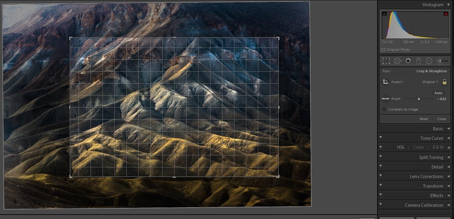 Editing landscape photos - crop 2