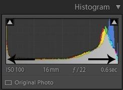 Editing landscape photos - histogram 2