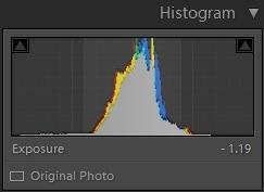 Editing landscape photos - histogram 3