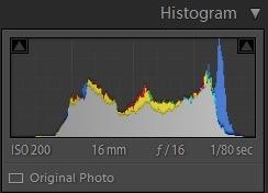 Editing landscape photos - histogram 5