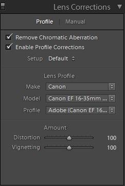Editing landscape photos - lens corrections
