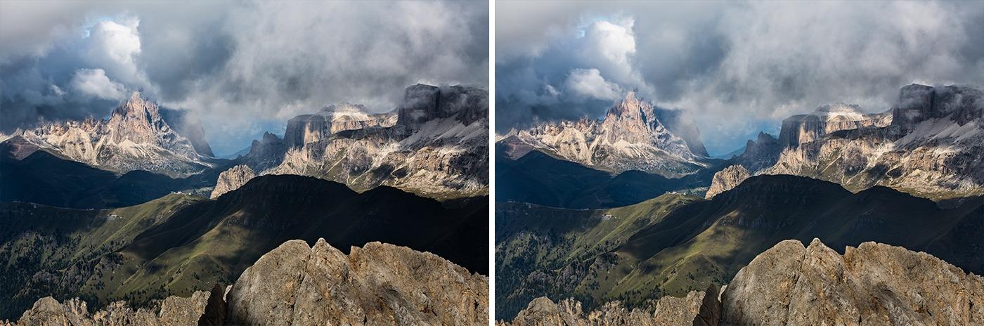 Editing landscape photos - shadows