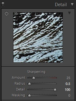 Editing landscape photos - sharpening