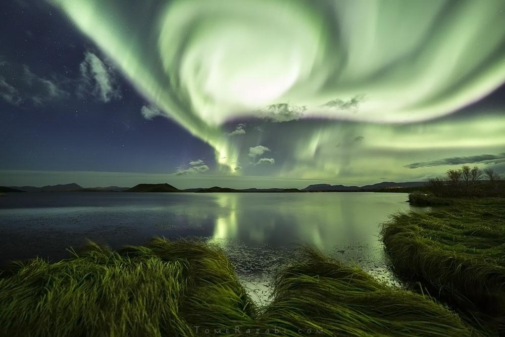 צילום נוף איסלנד זוהר צפוני - תומר רצאבי