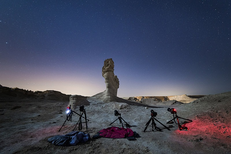 תמונה מתוך סדנת צילומי לילה וכוכבים בחווארי מצדה - תומר רצאבי