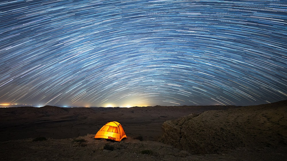 star trails photography Mitzpe Ramon - Tomer Razabi