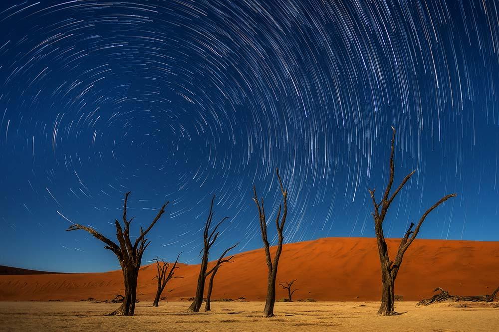 צילום לילה שבילי כוכבים בנמיביה קורס צילום נוף - תומר רצאבי