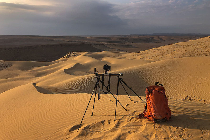 My f-stop Sukha photography backpack with gear - Tomer Razabi photography