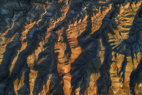 Aerial landscape photography of a desert river in Israel - Tomer Razabi
