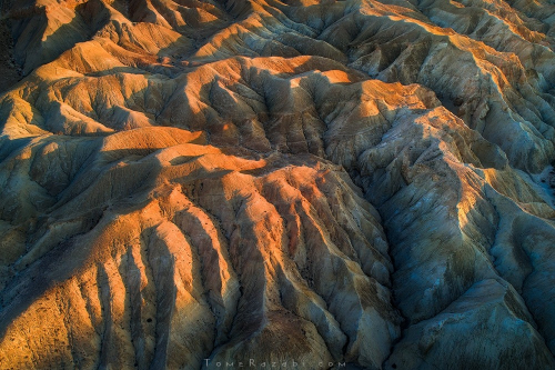 Aerial landscape photography of a desert river in Israel - Tomer Razabi
