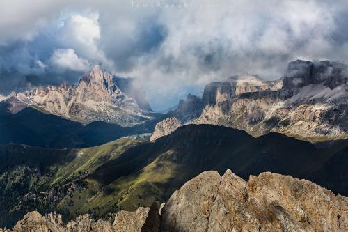 צילום נוף תצפית מהר מרמולדה בדולומיטים - תומר רצאבי