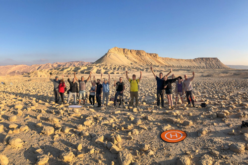 My group in a photography workshop at Mount zin and Bulbus field in Israel - Tomer Razabi Photography