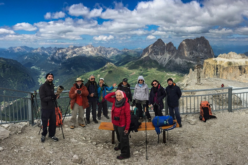 My group in a photography workshop at the Dolomites - Tomer Razabi Photography