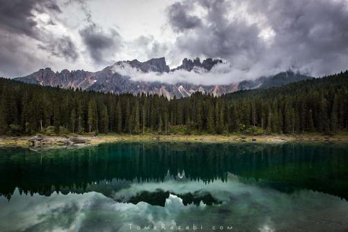 אגם קארצה בדולומיטים באיטליה קורס צילום נוף - תומר רצאבי