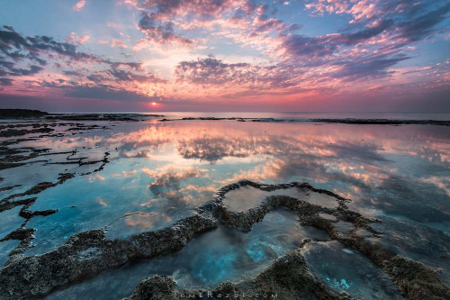 שקיעה בחוף הבונים קורס צילום נוף - תומר רצאבי