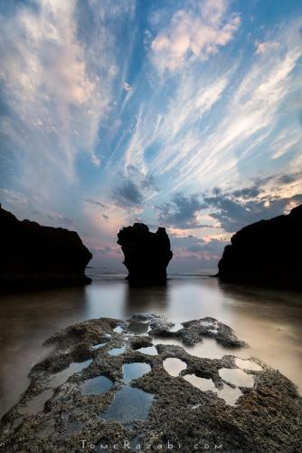 צילום פנורמי חוף דור הבונים - תומר רצאבי